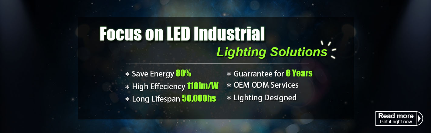 LED Industrial Lighting Supplier Banner - SUNPERLED
