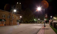 LED street lights retrofit upgrade in UK